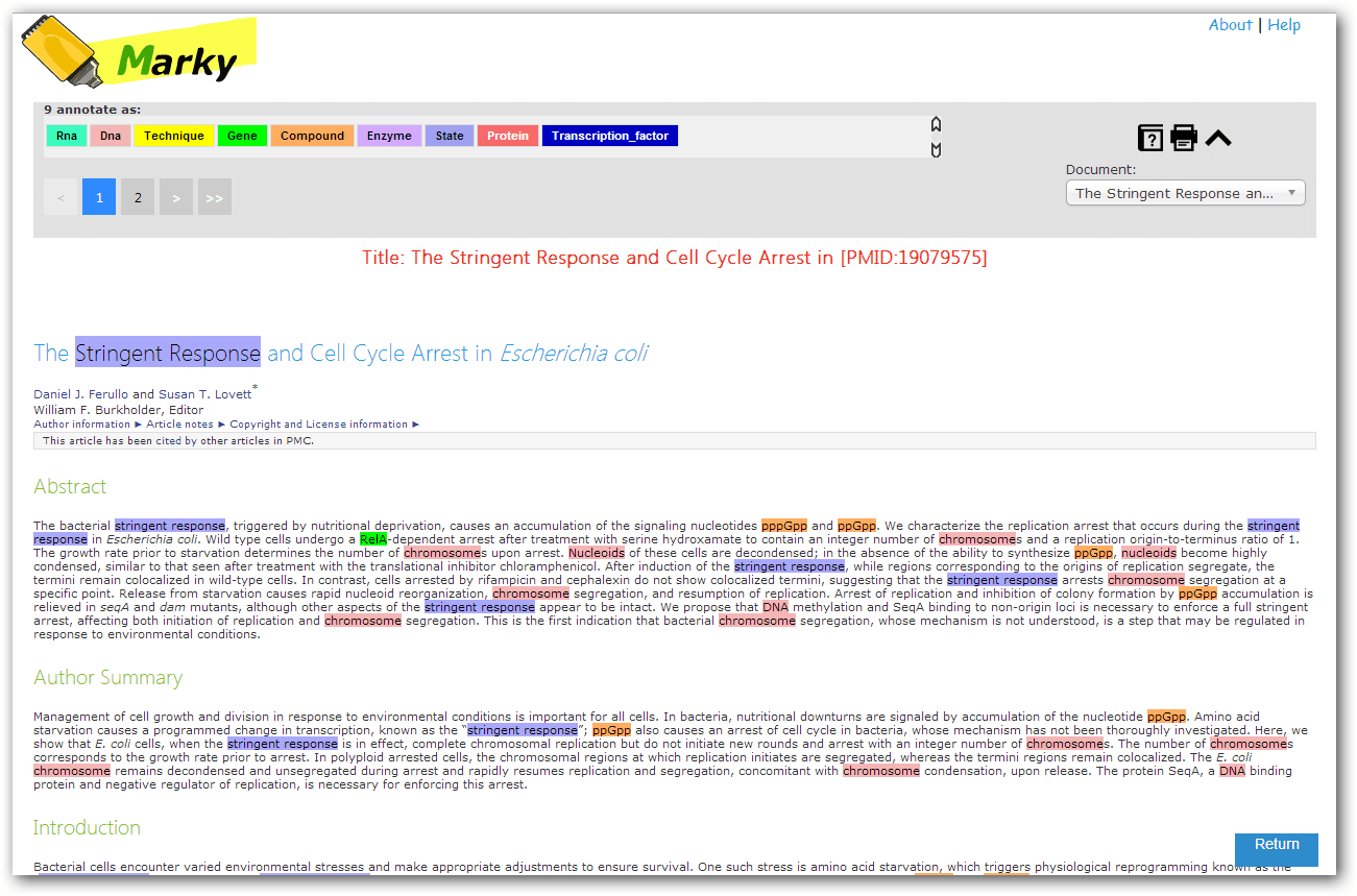 Example Annotated Documents